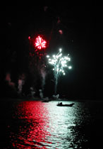 One of Aberdyfi's fireworks displays